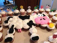 Cow Cupcake Cake cakepins.com
