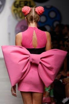 Minnie Mouse inspired fashion hits the runways of London Fashion Week! soooo awesome!!!!!!!!!!!!!!