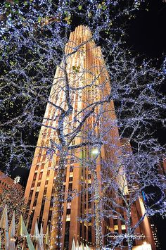 New York City Rockefeller Center at New Year Eve