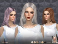 This hair style has 15 kinds of color  Found in TSR Category 'Sims 4 Female Hairstyles'