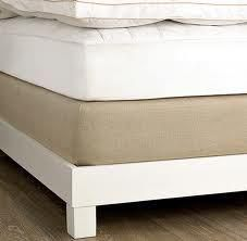 Scrap the Bed Skirt!    Use a fitted sheet to cover your box spring as well! Makes such a difference :)