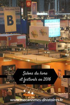 Salons du livre et festivals francophones en 2016.