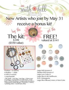 Great Offer to make extra money or have your own bussiness! To more info enter www.southhilldesigns.com/lindax