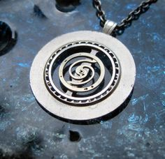 Clockwork Pendant Hypnotic Recycled Mechanical by amechanicalmind, $50.00