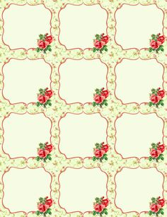 Free Vintage Rose Label Printables by Rachel Birdsell | Worldlabel Blog