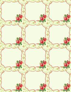 Free Vintage Rose Label Printables by Rachel Birdsell | Worldlabel Blog