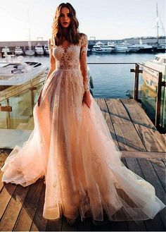24 Best Lace Wedding Dresses With Sleeves ? lace wedding dresses with sleeves a line blush noranaviano sposa ? : 24 Best Lace Wedding Dresses With Sleeves ? lace wedding dresses with sleeves a line blush noranaviano sposa ? Sheer Wedding Dress, Lace Wedding Dress With Sleeves, Long Sleeve Wedding, Long Wedding Dresses, Perfect Wedding Dress, Bridal Dresses, Lace Dress, Dresses With Sleeves, Dress Long