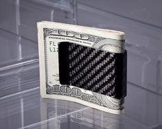The Koolstof Carbon Fiber Money Clip by Carbon Fiber Designs