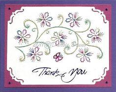 Motif de broderie fleur floral vigne pour cartes de souhaits