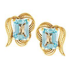 Aquamarine 18k Gold Earrings | World's Best #earrings