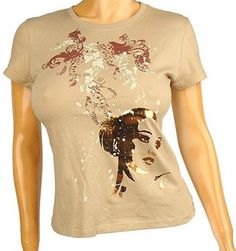 Charlotte Russe Taupe Tee Shirt, Top, Junior Sz Large New free shipping