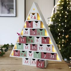 Looking for Christmas advents? Our wooden Christmas tree advent calendar is the way to countdown to Christmas! With Free Worldwide Delivery. Christmas Tree Advent Calendar, Wooden Advent Calendar, Wooden Christmas Trees, Christmas Countdown, Christmas Crafts, Christmas Decorations, Holiday Decor, Noel Christmas, Crafty Craft