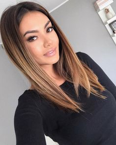 40 top balayage for dark hair black and dark brown hair balayage color 2019 guid. - 40 top balayage for dark hair black and dark brown hair balayage color 2019 guide 031 - Brown Hair Balayage, Brown Ombre Hair, Balayage Color, Brown Blonde Hair, Brown Hair With Highlights, Brunette Hair, Balayage Highlights, Black Balayage, Balayage Straight Hair
