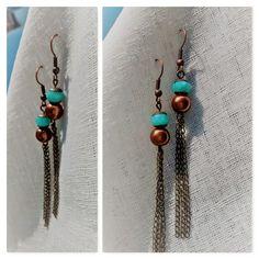 Aretes Vera Turquoise Necklace, Drop Earrings, Casual, Jewelry, Fashion, Stud Earrings, Moda, Jewlery, Jewerly