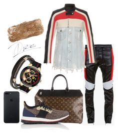"""""""Show For It 🏎"""" by stylinwitdre ❤ liked on Polyvore featuring Louis Vuitton, adidas, Balmain, Alexander Wang, Tomasz Donocik, Ferrari, Hat Attack, men's fashion and menswear"""