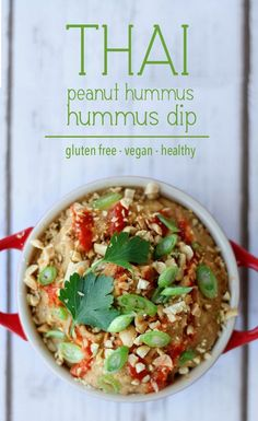 This Thai Peanut Hummus dip will become your favourite hummus recipe. Its sweet tangy nutty and spicy and is totally gluten free vegan and super healthy.
