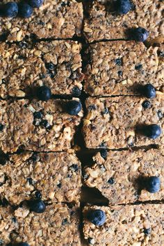 Baked Blueberry Granola Bar | Brewing Happiness