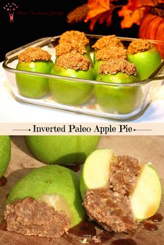 Inverted Paleo Apple Pie is super yummy, super healthy, and super Fally! I lost 8 sizes and reversed Type 2 Diabetes through diet and lifestyle. For more healthy ideas follow me on Pinterest and subscribe to my blog at this link! #paleoapplepie