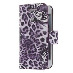 Tiger Pattern Twill PU læder Full Body Case for iPhone 5 (Valgfri farver) – DKK kr. 55