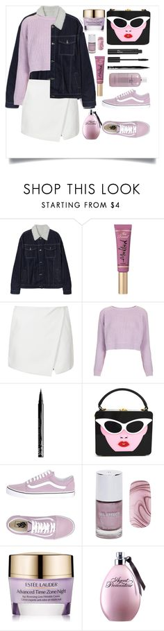 """""""SIMPLE 😍"""" by samahdasan ❤ liked on Polyvore featuring Too Faced Cosmetics, Topshop, NYX, Vans, Christian Dior, Forever 21, Estée Lauder and philosophy"""