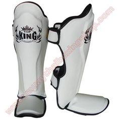 """Top King Shin Guard """"Pro"""" TKSGP (GL) White Size L."""