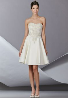 Dress 2 Party Time - Silk Faille strapless cocktail dress with Baroque embellished sweetheart neckline