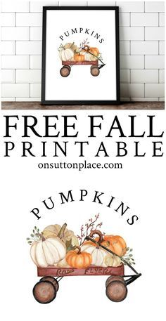 Fall Printables for Easy DIY Wall Art Use these new free fall printables to easily make your own DIY Diy Décoration, Easy Diy, Manualidades Halloween, Up Book, Ideas Geniales, Happy Fall Y'all, Art Mural, Fall Home Decor, Fal Decor