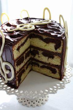 SugaryWinzyGClefBirthdayCake8 Chocolate Marble Cake, Melting White Chocolate, Vegetarian Bake, Round Cake Pans, Cake Batter, Corn Syrup, Cake Recipes, Birthday Cake, Layer Cakes