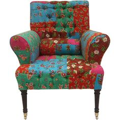 I have seen where you can reupholster a chair with an old quilt. Super cute!