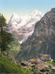Murren, Switzerland...stunning views and so many great hikes start from here. Take a lift up the mountain to get there.