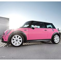 OMG, THIS IS IT! Thanks, Margaret!!! Mini Cooper Pink ☆ Girly Cars for Female Drivers! Love Pink Cars ♥ It's the dream car for every girl ALL THINGS PINK!