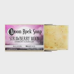 Strawberry Moons, Moon Rock, Soap, How To Make, Handmade, Products, Hand Made, Bar Soap, Soaps