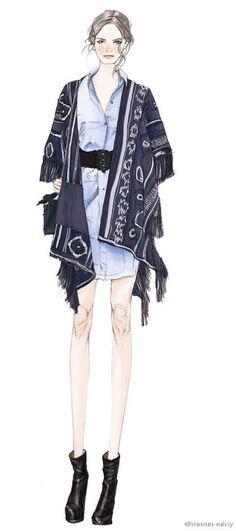 Dark blue drape cloth