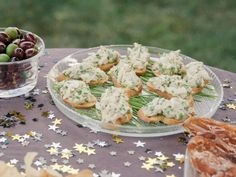 Crab Crostini with Lemon and Herbs recipe from Giada De Laurentiis via Food Network