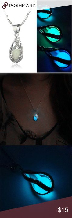 Glow in the dark necklace(NWT)Coming Soon! Very pretty necklace, glows in the dark. Leave the necklace out in the light or under a lamp for an hour for necklace to glow. Boutique Jewelry Necklaces