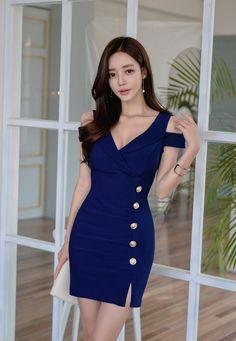 孙允珠 Nice Dresses, Casual Dresses, Short Dresses, Fashion Dresses, Summer Dresses, Asian Fashion, Girl Fashion, Womens Fashion, Beautiful Asian Women