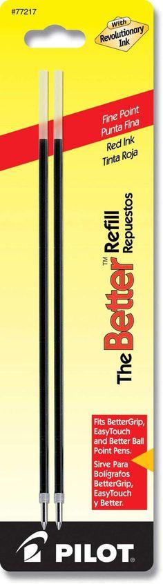 Pilot Ballpoint Better Refills - Red Ink - Fine Point - 2 Pack