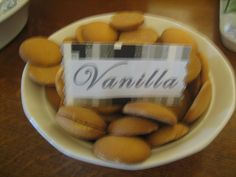Vanilla Wafers served with Vanilla Frozen Yogurt-50 Shades of Grey Party