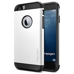 iPhone 6 Case, Spigen Slim Armor Case for iPhone 6 (4.7-Inch) - Retail Packaging -  Shimmery White (SGP10957)