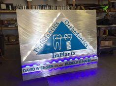 dental led sign with blue led and white led sign Led sign