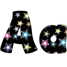 Fancy Stars Lettering | Alphabet Lettering