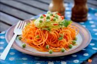 RAW Carrot Linguini With Curry Cauliflower Sauce