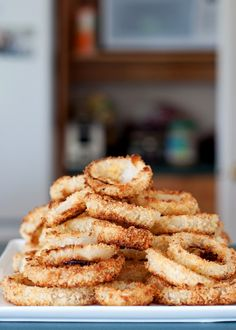 Baked Onion Rings.