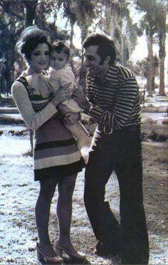 محمود ياسين و شهيرة و ابنتهم رانيا  صفحة انتيكا على الفيسبوك