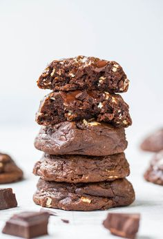 Mint chocolate fans will LOVE these soft, fudgy Andes Mint Chip chocolate cookies