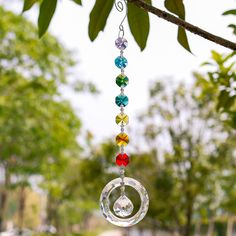 Cheap suncatcher, Buy Quality suncatcher crystals Directly from China Suppliers:25cm H&D Fengshui Round Rainbow Maker Window Pendant Crystal Suncatcher with 20mm Ball Prism Octogon Chakra Suncatcher for Gift