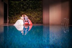 Wedding day photography in Singapore at V Hotel Bencoolen!