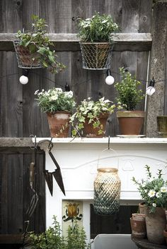 My Outside Space: Fire Surround and Plant Pots by Carole Poirot