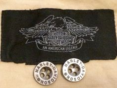 Harley Davidson Shirt Replacement Buttons Lot set of 2 Pewter Silver Tone Metal 4 Holes by AgeOldGlass on Etsy