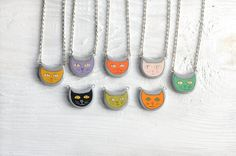 Hey, I found this really awesome Etsy listing at https://www.etsy.com/listing/206497451/handpainted-cat-pendant-cat-necklace-cat ... the black cat